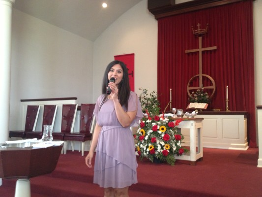 Singing at Los Altos UCC